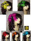 Neon Feather Fascinator and Brooch - Hen Party - Prom - Races 6 colours -LARGE