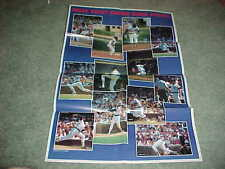 1984 Chicago Cubs Baseball Poster with Ryne Sandberg Eckersley Ron Cey Lee Smith