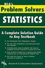 Statistics Problem Solver (Problem Solvers Solution Guides) by The Editors of R