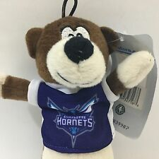 "NBA Charlotte Hornet Bear Plush 8"" Purple Jersey NWT"