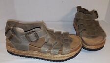 NEW JEFFREY CAMPBELL URBAN OUTFITTERS TAN LEATHER SANDALS  SHOES WOMEN'S SIZE 8