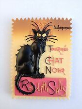 FRIDGE MAGNET BLACK CAT 3D  LA TOURNEE DU CHAT NOIR PARIS FRANCE   STAMP