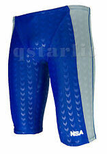Men Male Competiton Racing Fast-Skin Swimwear Jammer Trunk Size 36 / 3XL Splice