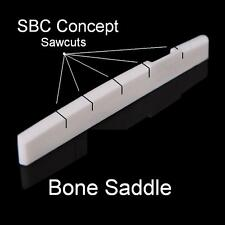 AxeMasters SBC CONCEPT Bone Bridge SADDLE for Acoustic Guitar