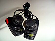 Vintage 80s Atari 2600 Video Game Pair of Original game Paddles Tennis Pong NICE