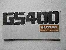 Manuale di guida Suzuki GS 400 nel 1977