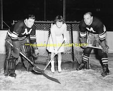 LIONEL CONACHER Poses w/Teammate BILL BEVERIDGE 8x10 Photo MONTREAL MAROONS GR8S
