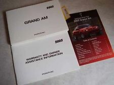 2005 Pontiac Grand Am Owners Manual with supplement