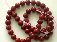 Red sponge coral round beads 7mm