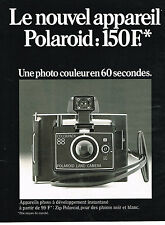 PUBLICITE  1974   POLAROID   appareil photo ZIP