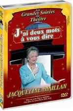 DVD NEUF Théatre ce soir J'ai deux mots à vous dire J Maillan DVD TOUT NEUF !
