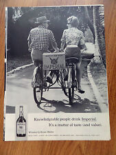 1963 Imperial Whiskey Ad Bicycling Case of Hiram Walker