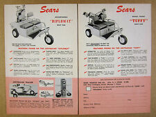 1956 Sears Lectracar Diplomat & Tuffy Golf Cars Carts photos vintage print Ad