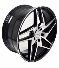 4 GWG Wheels 20 inch Black RAZOR Rims fits 5x115 DODGE CHARGER AWD 2007 - 2016