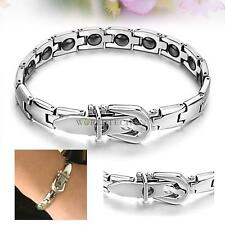 Fashion Women 16 Grains Magnetic Therapy Stainless Steel Bracelet GS977 New