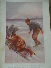 Original 1919 Print / Book Illustration The Empire Annual for Boys DOG SLED