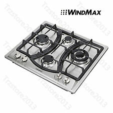"23"" Built-in 4 Burner Gas Cooktop Stainless Steel NG/LPG Stove Gas Hob Cooker"