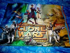 Star Wars The Clone Wars Twin 3Pc Sheet Set Flat Fitted & Pillow Case