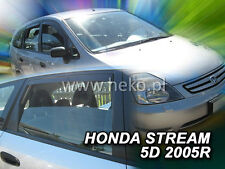 DHO17156 HONDA STREAM 5 DOOR 2000-2007 WIND DEFLECTORS 4pc HEKO TINTED