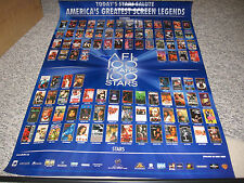 AFI AMERICAN FILM INSTITUTE POSTER AFI'S 100 YEARS 100 STARS SCREEN LEGENDS RARE