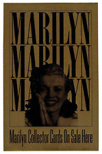 "1993 Marilyn Monroe Collector Cards Dealer Store Window Decal 5 1/2""x 8 1/2"""