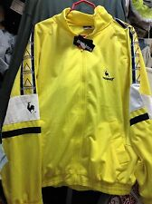 LE COQ SPORTIF TRACKSUIT top IN 30/32 32/34  £16 BNWL IN YELLOW
