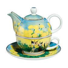 Goebel Primavera Tea for One Tasse mit Kanne Rosina Wachtmeister NEUHEIT Katze