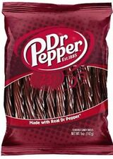 DR PEPPER LICORICE MADE FROM REAL DR. PEPPER  5 oz Bag Candy Twists Fresh