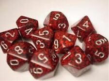 Chessex Dice Sets:Silver Volcano Speckled - Ten Sided Die d10 Set (10) CHX 25144