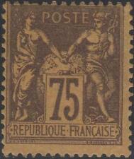 """FRANCE STAMP TIMBRE N° 99 """" SAGE 75c VIOLET SUR ORANGE """" NEUF xx TB J919"""