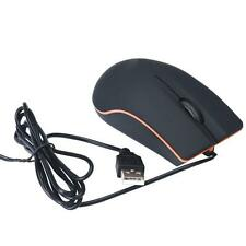 Optical USB LED Wired Game Mouse Mice For PC Laptop Computer BK