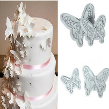 2PCS Butterfly Fondant Cake Decorating Mould Sugarcraft Cookie Cutters Mold DIY