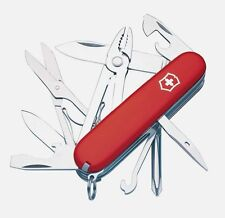 "NEW Victorinox SWISS ARMY Deluxe Red Tinker Knife 3-1/2"" Multi Tool Pliers 56481"