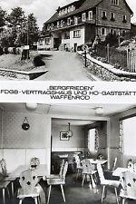 """21859 AK Waffenrod Eisfeld DDR FDGB-Vertragshaus """"Bergfrieden"""" Zufahrt um 1965"""