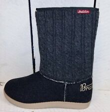Ladies Brakeburn Cosy Grey Knitted Ankle Boot