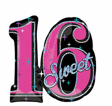 "Celebrate Sweet Sixteen 16 Happy Birthday 28"" Foil Balloon Party Favor Supplies"