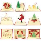 3D Luxury Handmade Pop Up Christmas Xmas Invitations Celebrations Greeting Cards