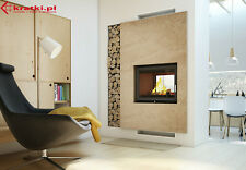 ZUZIA  DOUBLE SIDED INSET INSERT STOVE WOOD BURNING CASSETTE TUNEL WOOD BURNER
