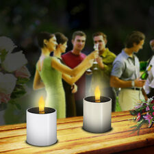 4X Solar Candle Light Home Decor LED landscape Garden Light W/ Flickering Effect