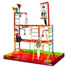 ACRYLIC PLAY STAND pen gym parrot bird cages toy toys Cockatiels Parakeet