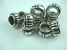 10 Pcs Antique silver CCB Acrylic jewelry scarf rings slide accessory