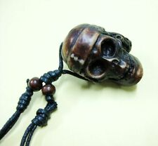 5 PCS Devil Pirate Skull Carved Amulet Biker Necklace Pendent LOTS NG10