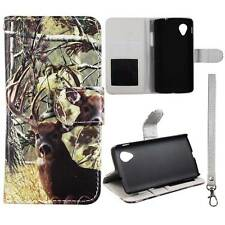 Flip Wallet Camo Tail Deer For LG Optimus G LS970  Pu Leather Cover Case