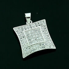 Sterling Silver Cubic Zirconia Micro Pave Set   Pendant -FREE Gift Box