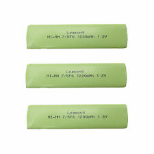 3 x 7/5 F6 1200mAh 1.2V NIMH NH-14WM Gumstick Rechargeable Battery CD MD