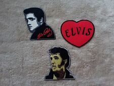 SET OF THREE MUSIC SEW ON / IRON ON PATCHES:- SET 044 ELVIS