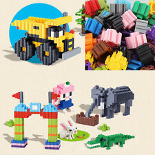 200 Plastic Building Block Brick Children Kid Puzzle Educational Toy Xmas Gift N