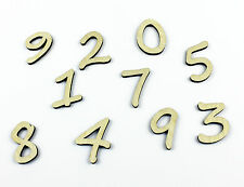 Set of 10 Small Wooden Numbers / DIY / Unpainted / Wedding / Table Numbers