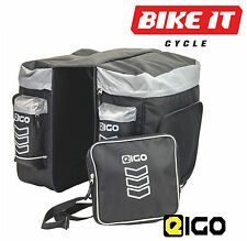 EIGO HOPPER 40L BICYCLE DOUBLE PANNIER BAG SET LARGE CYCLING COMMUTING BAGS