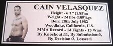 "MMA CAIN VELASQUEZ Champion Silver Photo Plaque ""FREE POSTAGE"""